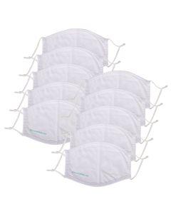 Ansiktsmaske i bomull - 10-pack