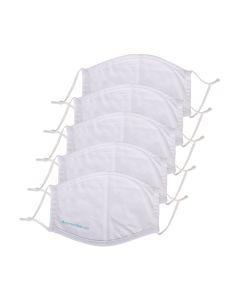 Ansiktsmaske i bomull - 5-pack