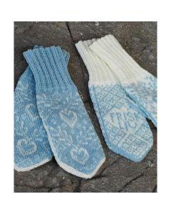 Strikkepakke Reumavott dame - lys blå